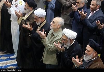 حضور علیاکبر صالحی، رئیس سازمان انرژی اتمی در نماز جمعه تهران