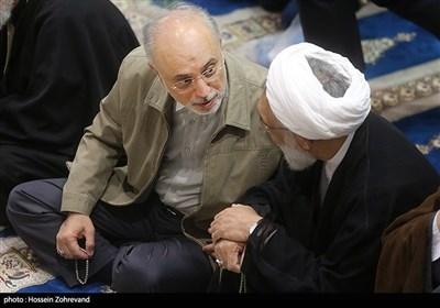 علیاکبر صالحی، رئیس سازمان انرژی اتمی در نماز جمعه تهران