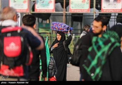 بازگشت زائران اربعین حسینی از مرز شلمچه