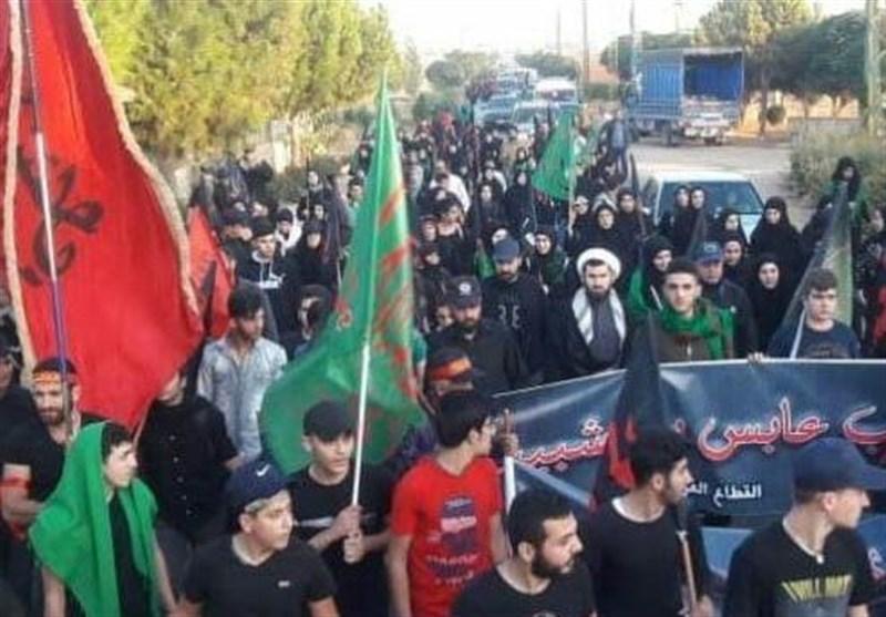 برگزاریمراسم اربعین حسینی (ع) در لبنان / سخنرانی دبیرکل حزب الله در جمع عزاداران + عکس