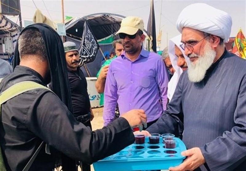 اخبار اربعین 98 | امام جمعه بوشهر در کربلا از زائران اربعین سالار شهیدان(ع) پذیرایی کرد + تصاویر