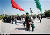 همایش کاروان پیادهروی «قافله جاماندگان اربعین» در کاشان برگزار شد