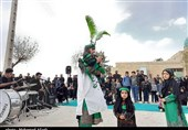 آئین تعزیهخوانی در امامزاده بیبی حیات کرمان برگزار شد + تصاویر