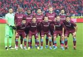حسینی در جمع 11 بازیکن اصلی ترابزوناسپور مقابل کراسنودار در لیگ اروپا