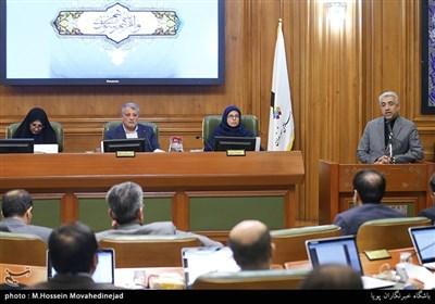 سخنرانی رضا اردکانیان وزیر نیرو در جلسه شورای شهر تهران
