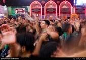 زائران امام حسین(ع) در کربلا علیه تروریستهای آمریکایی شعار سر دادند