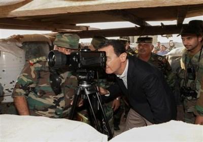 بشار اسد در خط مقدم جنگ : نبرد اصلی ما پایان دادن به تروریسم در تمام مناطق سوریه است
