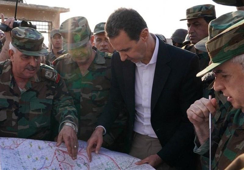 حضور غیرمنتظره «بشار اسد» در خط مقدم نبرد در حومه «ادلب»+تصاویر
