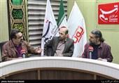 حسین پرنیا آهنگساز ،همایون حسینیان شاعر و طنزپرداز و کامران کوهستانی خوشنویس در نشست بررسی هنر و خلاقیت در آموزش و پرورش