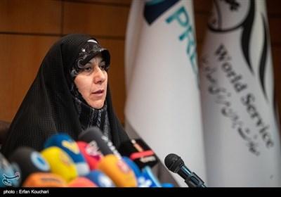 منصوره موحدین رئیس دانشکده علوم پزشکی تربیت مدرس در نشست خبری بررسی وضعیت دانشمند بازداشتی ایرانی در زندان آمریکا