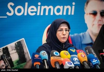 مهناز ربیعی همسر دکتر مسعود سلیمانی در نشست خبری بررسی وضعیت دانشمند بازداشتی ایرانی در زندان آمریکا