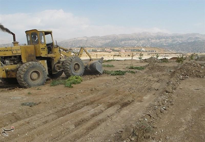 ادامه پیگیریهای تسنیم  52 هکتار از اراضی بستر رودخانه بشار یاسوج رفع تصرف شد + تصاویر