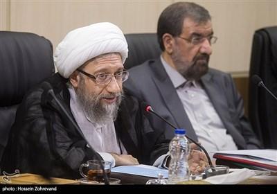 آیتالله صادق آملی لاریجانی رئیس مجمع تشخیص مصلحت نظام