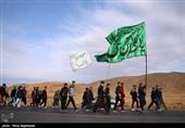 پیاده روی زائران حرم مطهر امام رضا (ع)