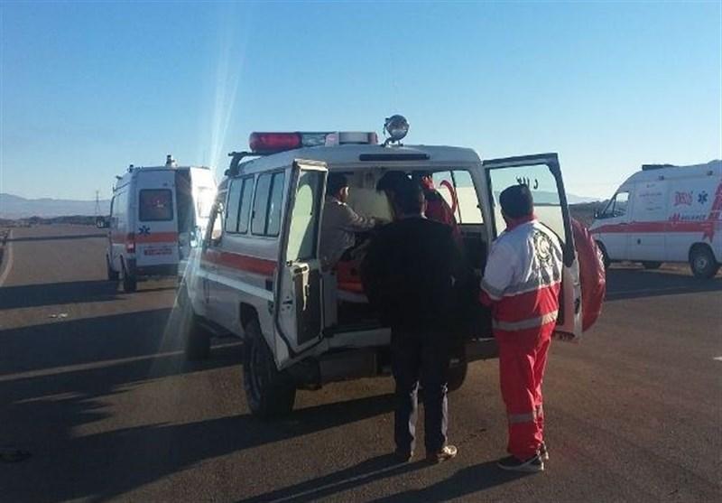 واژگونی اتوبوس در اتوبان کرج-قزوین 11 مصدوم برجا گذاشت