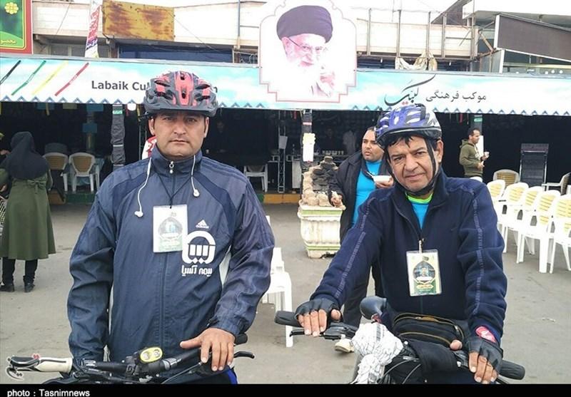استقبال زائران پیاده حرم رضوی از طرح نائب الشهید+عکس و فیلم