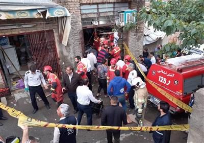 تهران| مرگ تلخ 2 پسربچه بر اثر ریزش کف مغازه + تصاویر