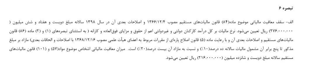 بودجه ایران , مالیات ,