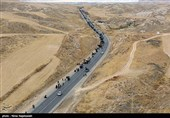 تصاویر هوایی پیاده روی زائران حرم مطهر امام رضا (ع)