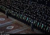 مراسم خطبهخوانی شب شهادت امام رضا(ع) در صحن انقلاب حرم رضوی