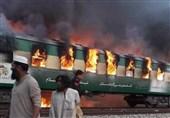 آتش گرفتن یک قطار پاکستانی 62 مسافر را به کام مرگ کشاند