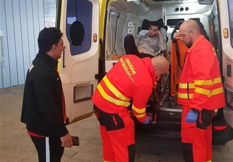 کشتی فرنگی زیر 23 سال جهان| مصدومیت شدید و انتقال ناصرپور به بیمارستان + عکس