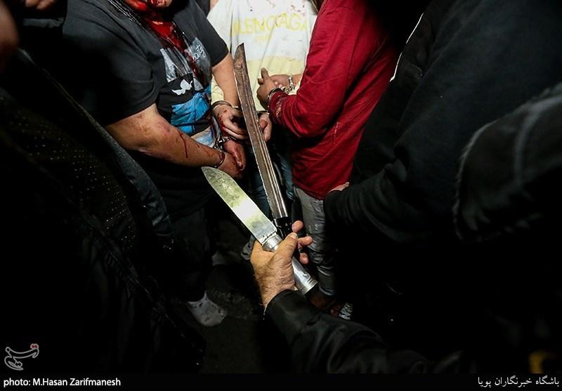 تهران| حمله خونین به 7 نفر و خسارت به 9 خودرو توسط اوباش + تصاویر