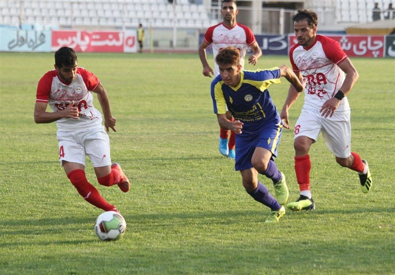 لیگ دسته یک فوتبال| تساوی گل ریحان مقابل نود ارومیه در ورزشگاه انقلاب کرج