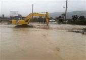 وقوع سیلاب در مرکز مازندران؛ مسدودی محورهای سوادکوه و فیروزکوه
