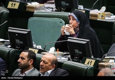 سکینه الماسی نماینده استان بوشهر در جلسه علنی مجلس شورای اسلامی