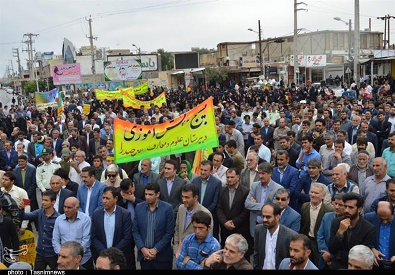 راهپیمایی یومالله 13 آبان در کاشان برگزار شد/ خلق حماسهای عظیم در کاشان