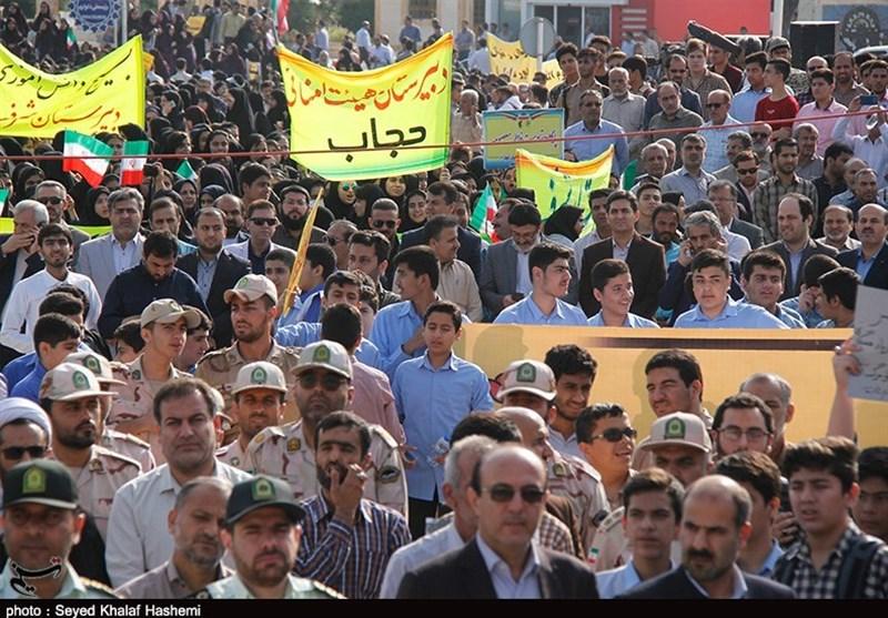 راهپیمایی 13 آبان در بوشهر به روایت تصویر