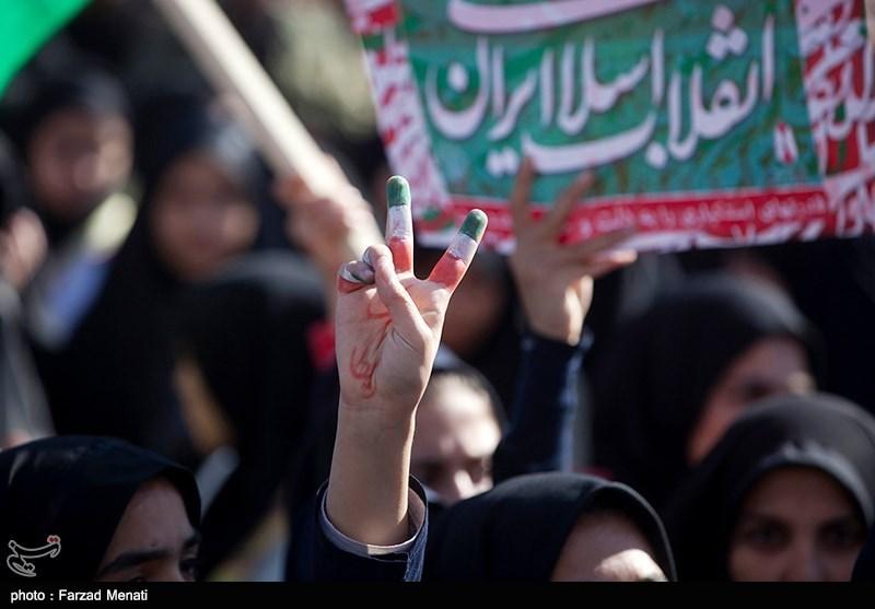 یزد| حضور باشکوه نسل چهارم و پنجم انقلاب در راهپیمایی 13 آبان