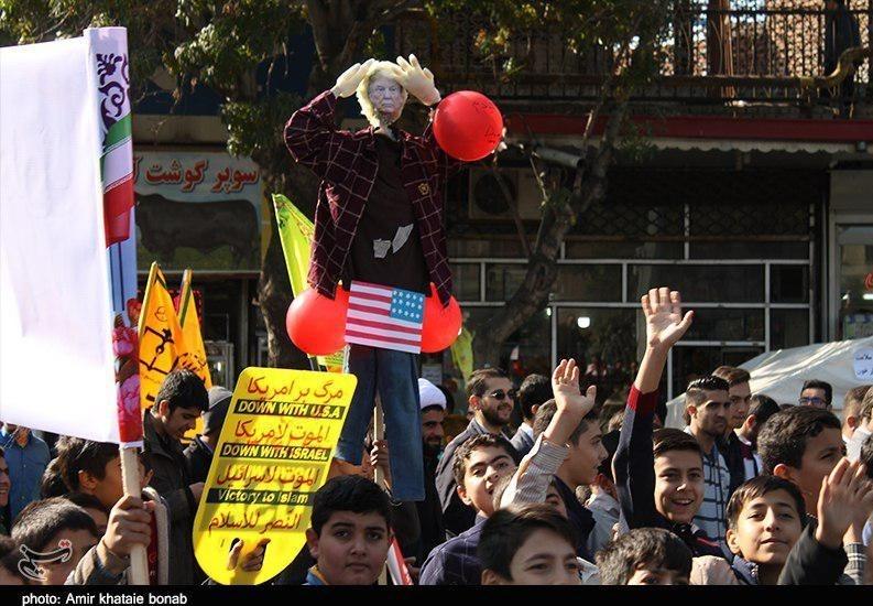 راهپیمایی یومالله 13 آبان ماه در آذربایجان شرقی به روایت تصویر 