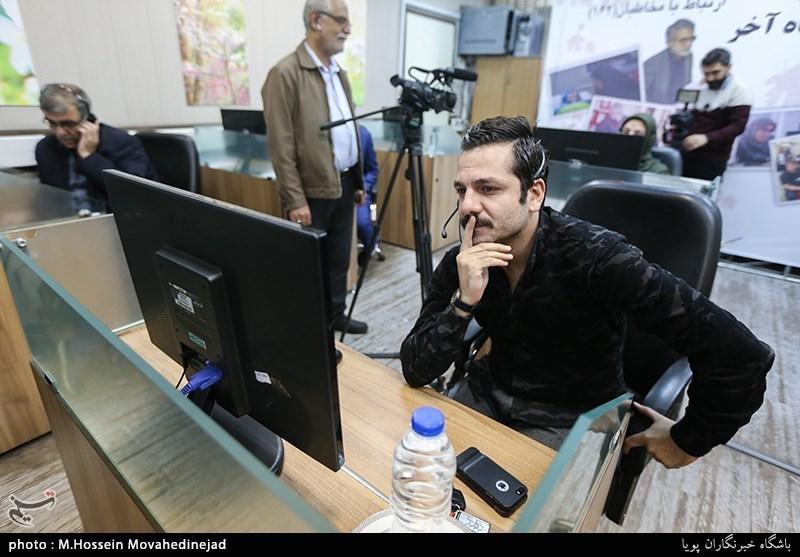 حضور عباس غزالی بازیگر سریال پناه آخر در واحدارتباط مردمی روابط عمومی سازمان صداوسیما