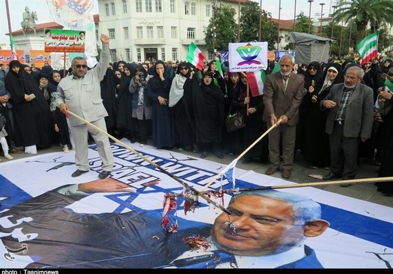 راهپیمایی یومالله 13 آبان در رشت به روایت تصویر