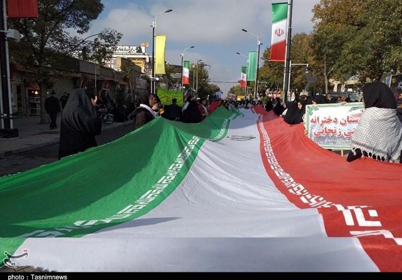 راهپیمایی یومالله 13 آبان ماه در استان زنجان به روایت تصاویر