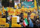 حضور پرشور مردم زنجان در راهپیمایی 13 آبان / طنین « مرگ بر آمریکا»