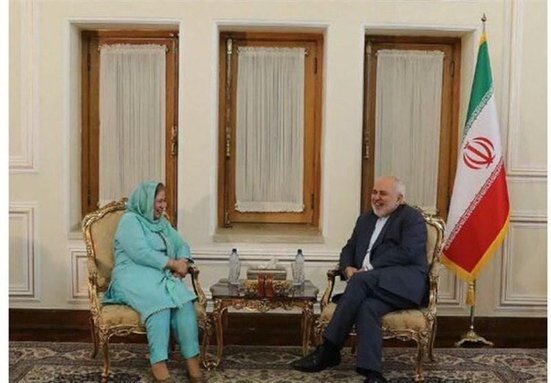 سفیر پاکستان در پایان ماموریتش با ظریف دیدار کرد
