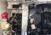تهران| نجات زن جوان پس از آتشسوزی در اتاقخواب + فیلم و تصاویر