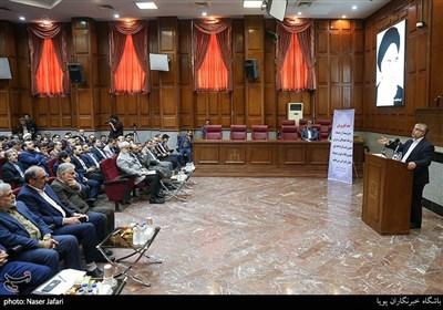 سخنرانی عباس پوریانی در مراسم تکریم و معارفه رئیس کل دادگاه های عمومی و انقلاب تهران