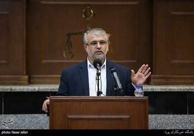 سخنرانی عباس پوریانی رئیس سابق دادگاه های عمومی و انقلاب تهران