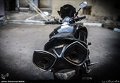 فیلم و تصاویر/ توقیف موتورسیکلت سنگین چند صد میلیونی در نازیآباد