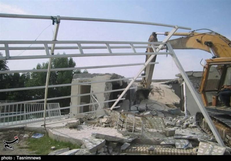 خوزستان| آخرین فرصت دادستان بهبهان به زمینخواران؛ بزرگترین ویلای غیرمجاز تخریب شد