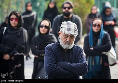 جلیل فرجاد در مراسم تشییع پیکر زندهیاد بیژن علیمحمدی