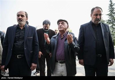 تورج نصر در مراسم تشییع پیکر زندهیاد بیژن علیمحمدی