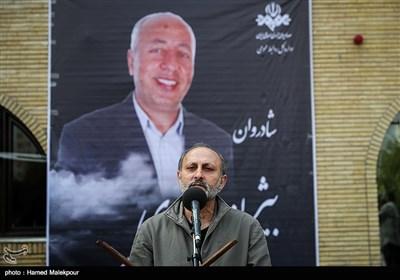 سخنرانی امیرمحمد صمصامی در مراسم تشییع پیکر زندهیاد بیژن علیمحمدی