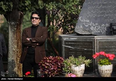 اردلان شجاع کاوه در مراسم تشییع پیکر زندهیاد بیژن علیمحمدی