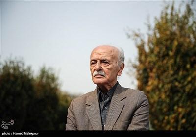 حمید منوچهری در مراسم تشییع پیکر زندهیاد بیژن علیمحمدی