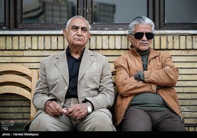 ناصر ممدوح در مراسم تشییع پیکر زندهیاد بیژن علیمحمدی